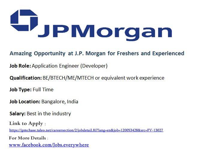 jp morgan hiring freshers&exp!! | updateurknwldge
